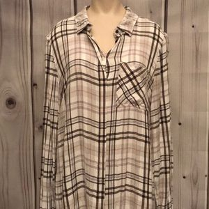 Tops - White House Black Market flannel. Size 14